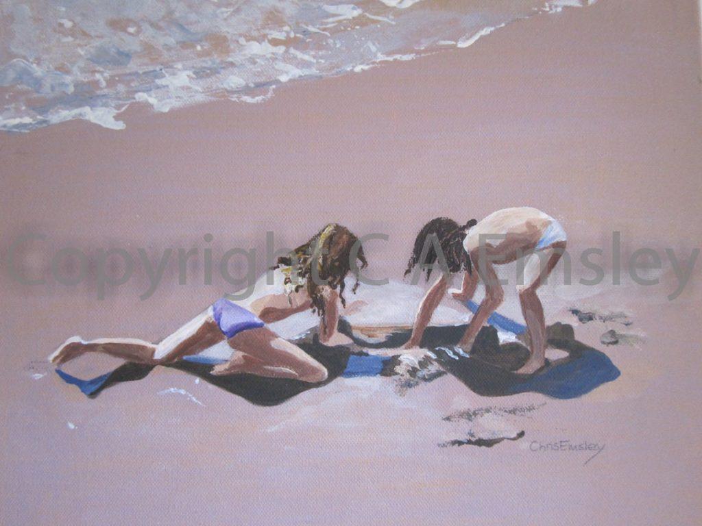 Portrait Beach Acrylic on Canvas by Chris Emsley